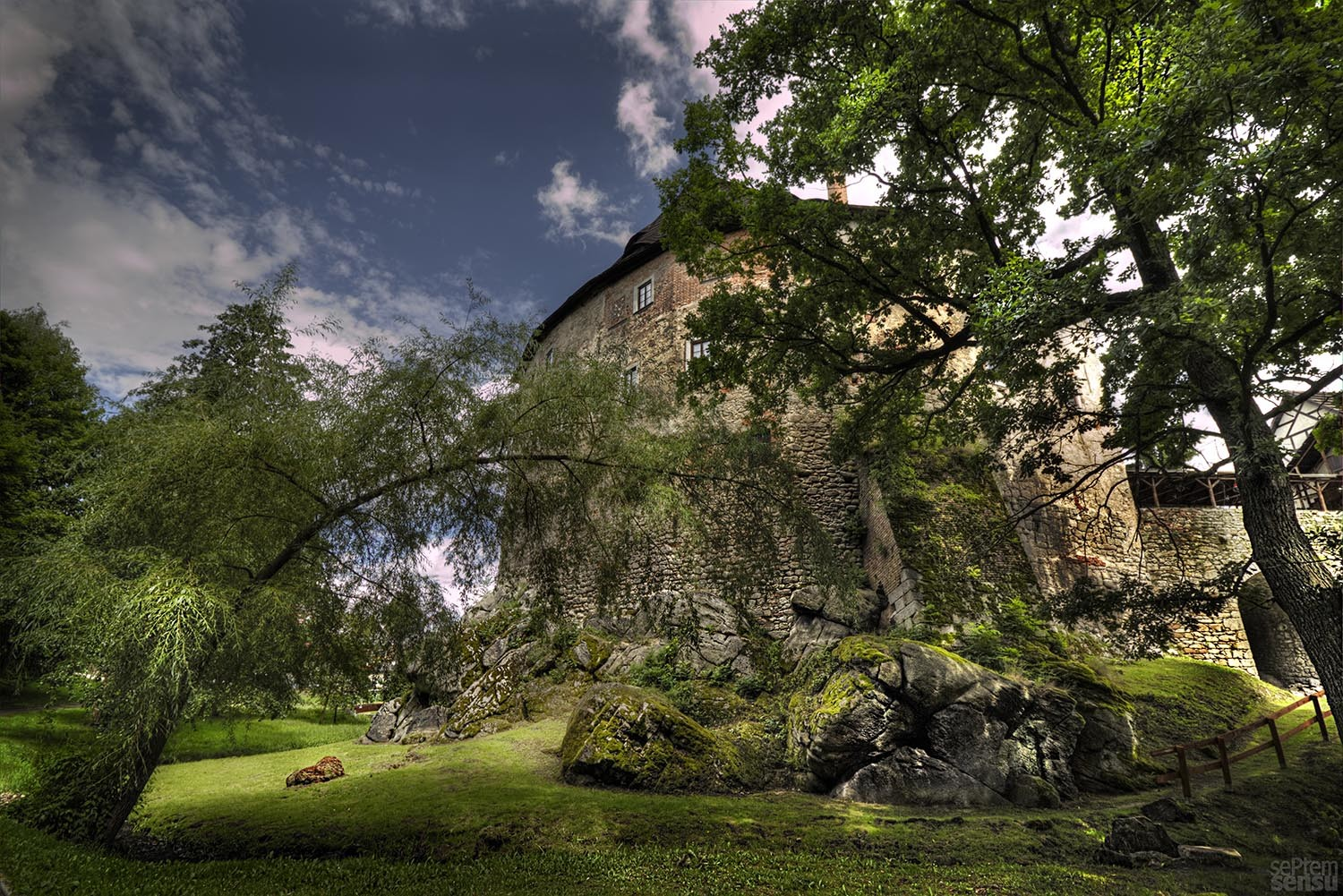 Burg Wildstein in Skalna